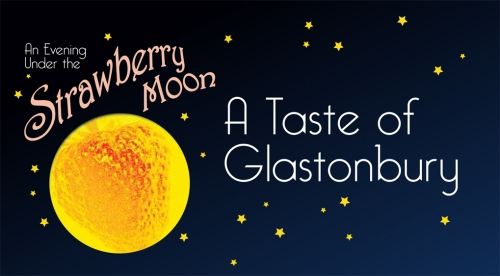 Strawberry Moon TM Taste of Glastonbury logo
